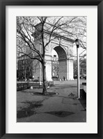 Framed Arc de Triomphe in Washington Square Park
