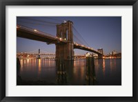 Framed Brooklyn Bridge Twilight
