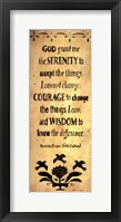 Framed Serenity Prayer