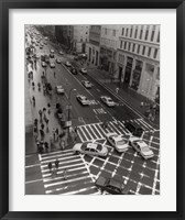 Aerial View 5th Ave NYC Framed Print