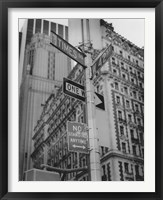 Times Square and 42nd Street Framed Print