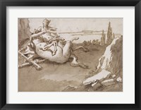 Framed Centaur and a Female Faun in a Landscape