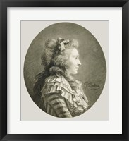 Framed Portrait of a Young Lady in Profile