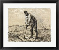 Framed Man with a Hoe