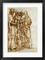 Framed Study of Four Saints
