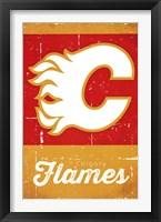 Framed Calgary Flames - Retro Logo 13