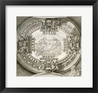 Framed Study for a Ceiling with the Virgin and Christ in Glory