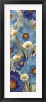 Sunkissed Blue and White Flowers I Framed Print