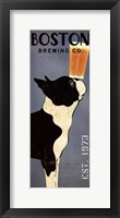 Framed Boston Terrier Brewing Co Panel