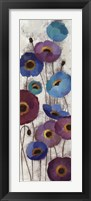 Framed Bold Anemones Panel II
