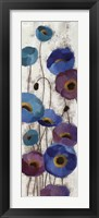Framed Bold Anemones Panel III