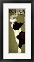 Framed Boston Terrier Coffee Co