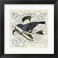 Monument Etching Tile II Blue Bird Framed Print