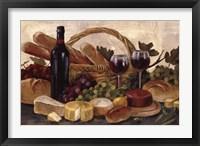 Framed Tuscan Evening Wine Crop