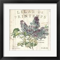Framed Lilas de Printemps