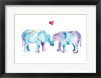 Framed Elephants in Love