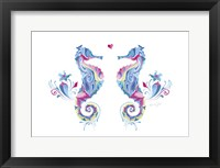 Sea Horses in Love Framed Print