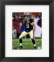 Framed Drew Brees 2013 Action