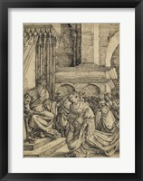 Framed Esther before Ahasuerus - drawing
