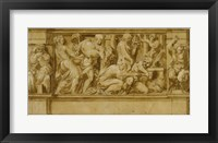 Framed Design for a Frieze with Worshippers Bringing Sacrificial Offerings