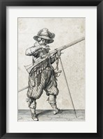 Framed Soldier on Guard Blowing Out a Match