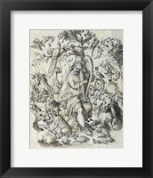 Framed Orpheus Charming the Animals