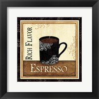 Coffee and Cream III Framed Print