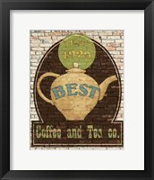 Best Coffee and Tea Framed Print