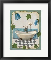 Bell Flower Bath I on Ivory Framed Print