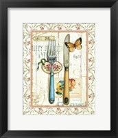 Framed Rose Garden Utensils I