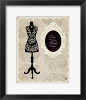 Chic Dress Form I Framed Print