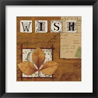 Natures Journal - Wish Framed Print