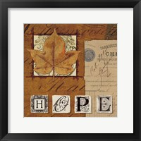 Natures Journal - Hope Framed Print