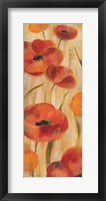 May Floral Panel I Framed Print