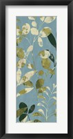 Leaves on Blue II Framed Print