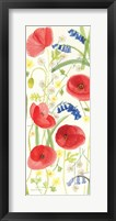Framed Meadow Poppies II
