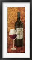 Vin Rouge Panel I Framed Print