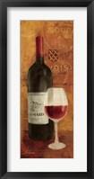 Vin Rouge Panel II Framed Print