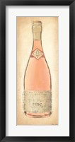 Framed Sparkling Rose Bottle