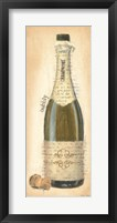 Bubbly Champagne Bottle Framed Print