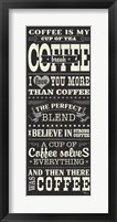 Coffee Lovers I Framed Print