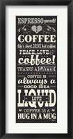 Coffee Lovers II Framed Print