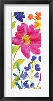 Floral Medley Panel I Framed Print