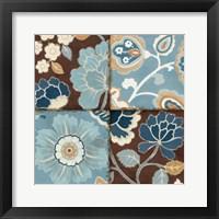Patchwork Motif Blue II Framed Print