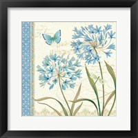Blue Melody III Framed Print