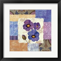 Tiled Poppies II - Purple Framed Print