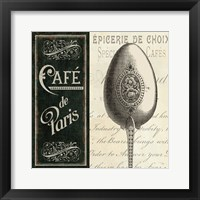 French Menu I Framed Print