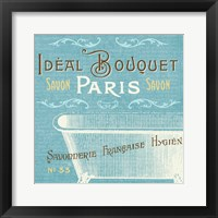 Indulge Yourself Aqua I Framed Print