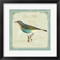 Parisian Bird II Framed Print