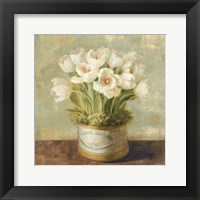 Framed Hatbox Tulips